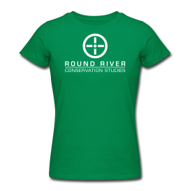 woman's green round river t-shirt