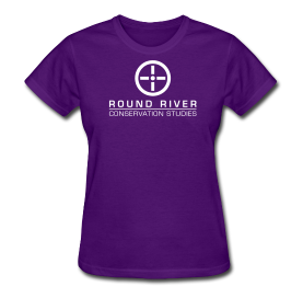 purple round river woman's t-shirt