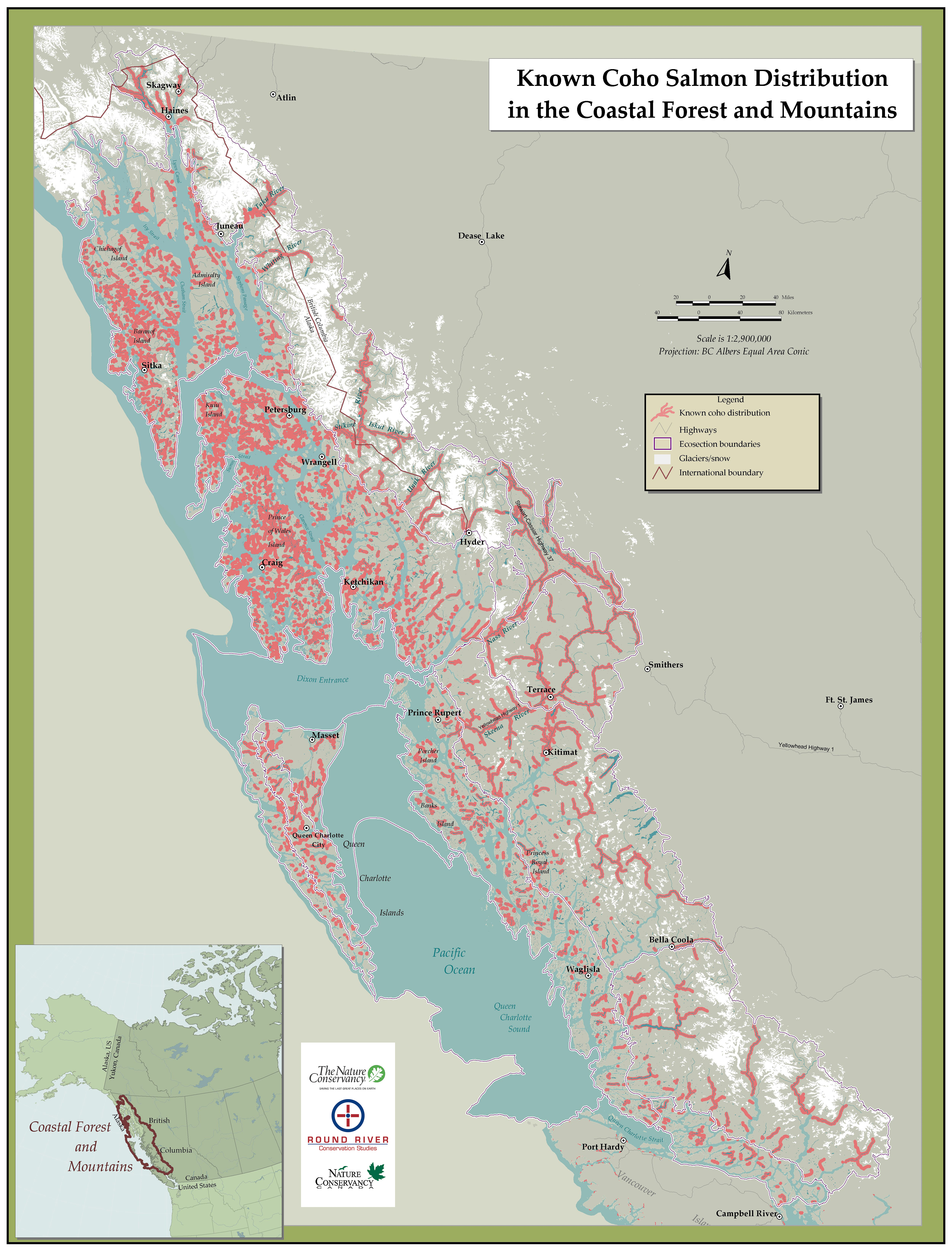 Map Of Canada Mountains.Coastal Forest And Mountains Maps Publications And Reports