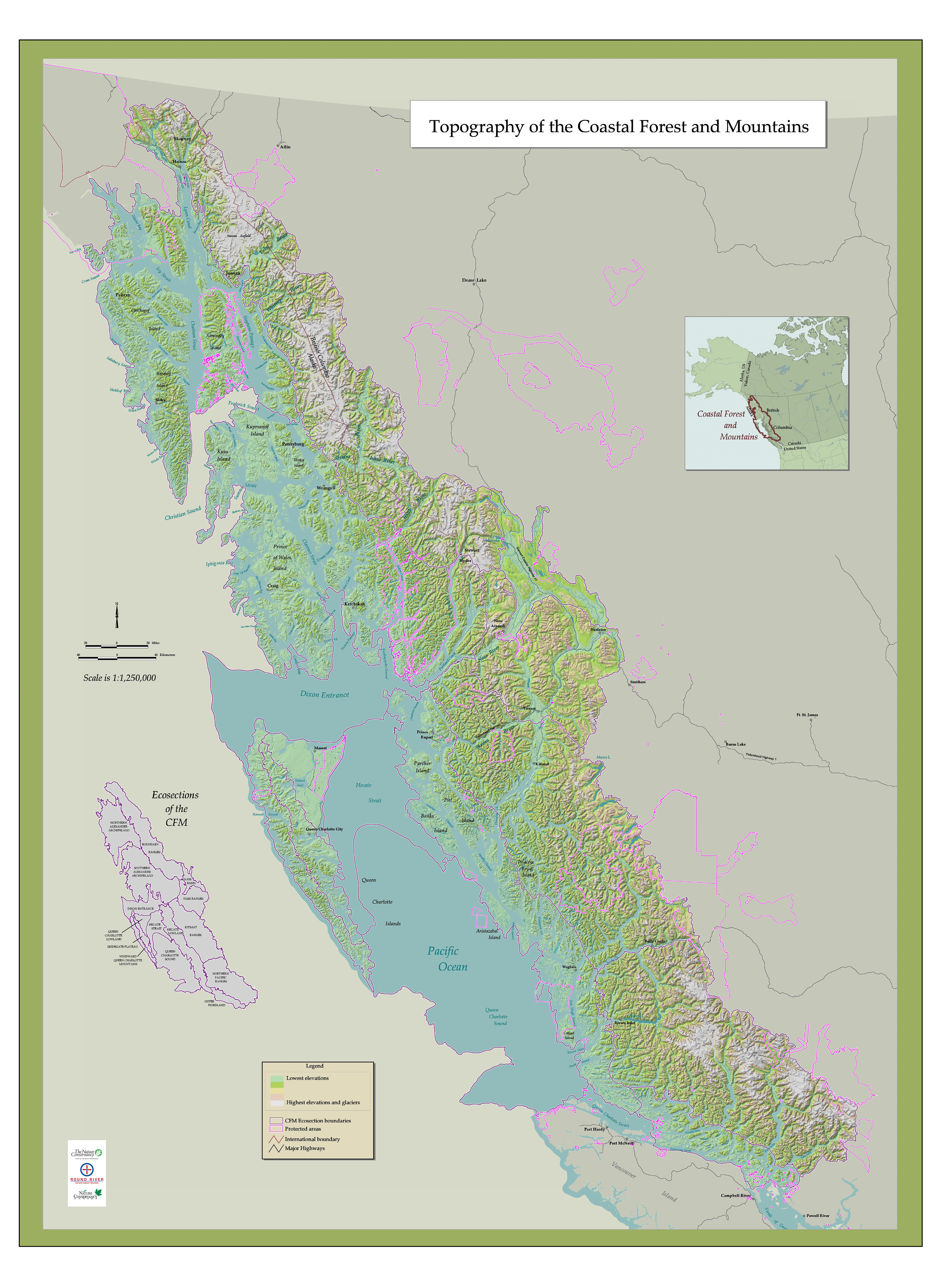 Coastal Forest And Mountains Maps Publications And Reports